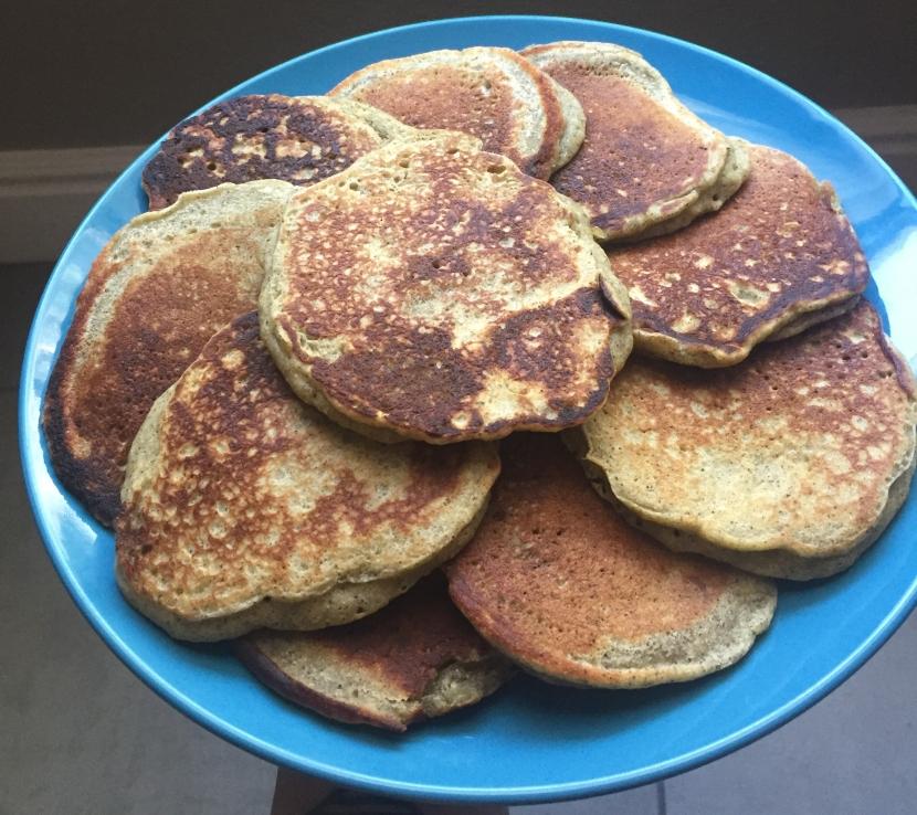 Gluten Free Hemp Protein BananaPancakes